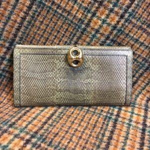 Gucci Vintage Mineral Python Wallet
